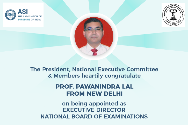 Prof. Pawanindra Lal fron New Delhi Appointed as EXECUTIVE DIRECTOR, NATIONAL BOARD OF EXAMINATIONS