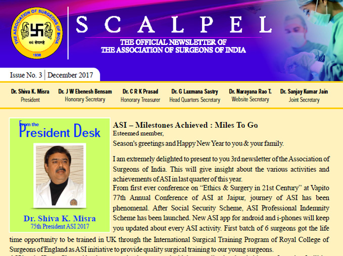 Newsletter of ASI December 2017